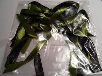 5 x 12mm Christmas Tree Decoration Satin Ribbon Bows (2.5 inch wide) Handmade
